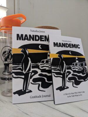 Mandemic Book, Gratitude Journal and Drink Holder bundle